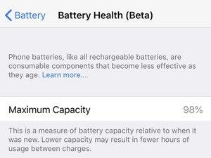 Chequea el estado de la batería de tu iPhone