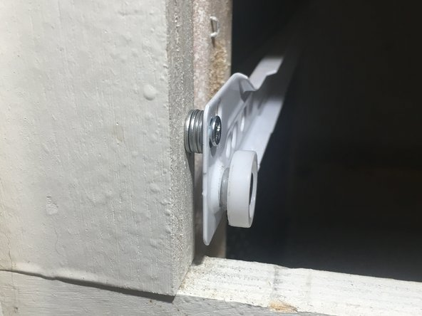 """At this point we need to find the correct gap that will correctly align our drawer. This is done by using machine washers and reinstalling the drawer to get the correct """"feel"""". Look for an easy pull and no grinding or falling out of the track."""