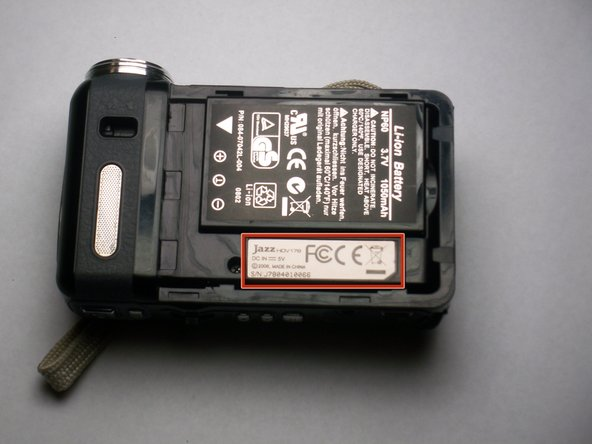 Once you have the back cover off, the camcorder should look like this.