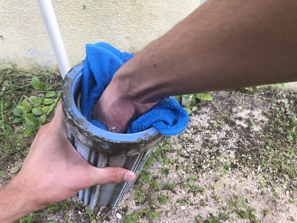 Clean out the inside of the filter canister with soap and water.