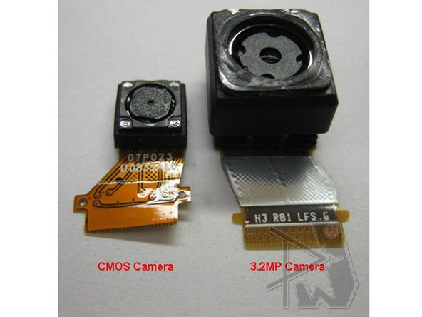 Finally, on the right, there is a connection to the front CMOS camera.  Both camera modules are shown side by side, below.