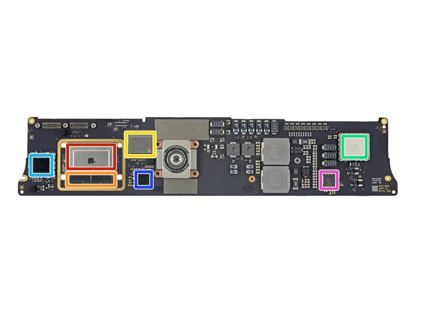 Thanks to the M1 architecture, this is the smallest iMac logic board yet. Let's take a closer look: