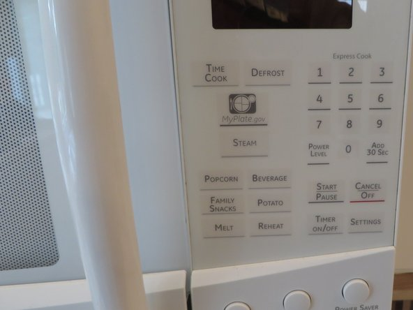 GE Profile Microwave Oven Touchpad Repair