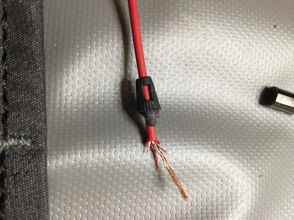 Cut the White wire at 2cm, Green wire at 3cm, Red wire at 4cm and Yellow wire at 5cm length respectively from the edge of the cable.
