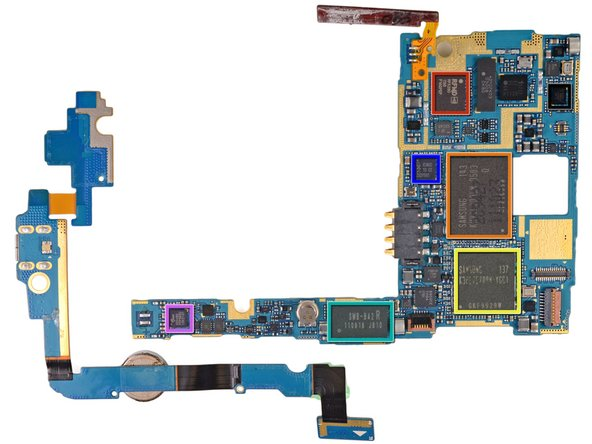 "Flipping both boards over reveals a lot of nothing on the smaller board, but a ton of chips on the motherboard—a ""smörgås-board,"" if you will:"