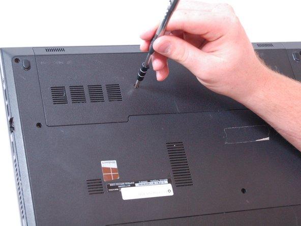 Using a T5 Torx screwdriver, remove a M2.5 x 5mm screw.
