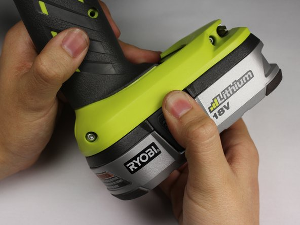 The battery can shock you.  Only touch plastic, non-conductive components.