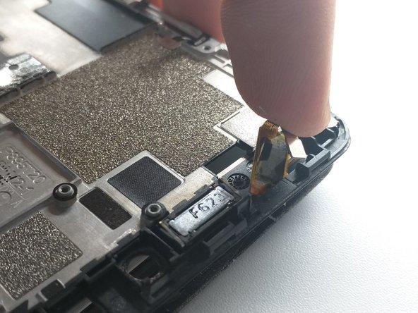 Push digitizer flex cable through frame