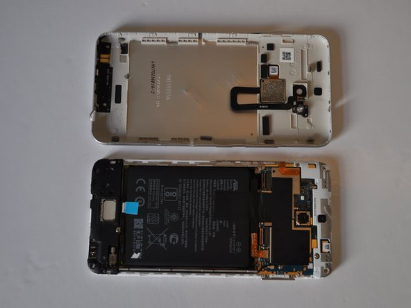Once the original cover has been removed, apply the new cover to the back of the phone with careful pressure.