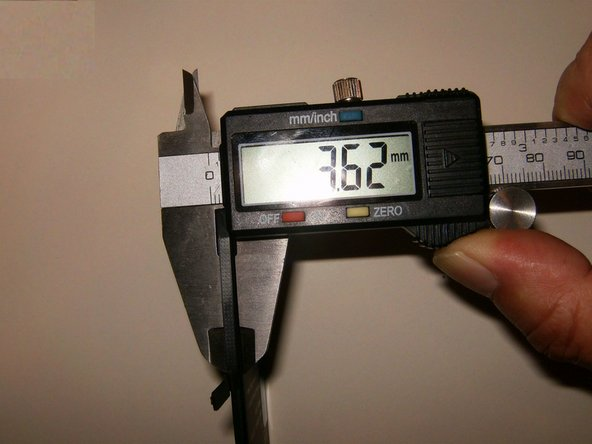 Thickness of the XCAP is 3.62mm
