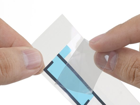 Repeat the process for the top adhesive strip.
