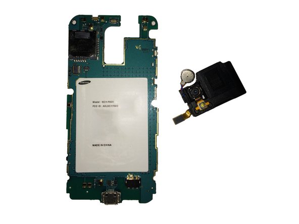 The speaker/rear camera has now been removed from the board.