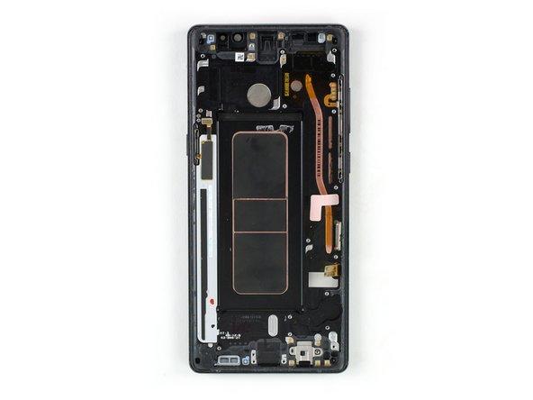 Reemplazo del ensamblaje de pantalla con marco en el Galaxy Note8