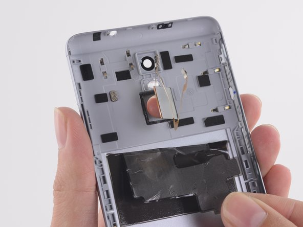 Fingerprint sensor is the only component left in the rear case.