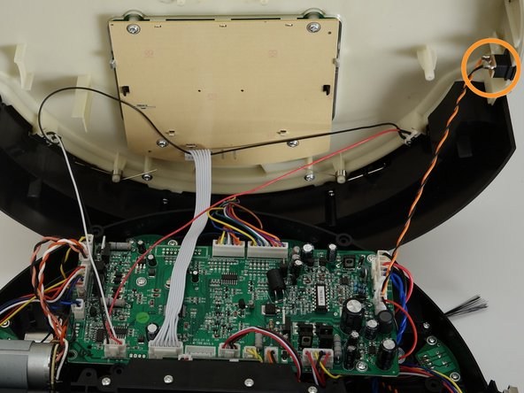 Flip bOb back over so you can see the screen. Lift the cover up to reveal bObsweep's main board.