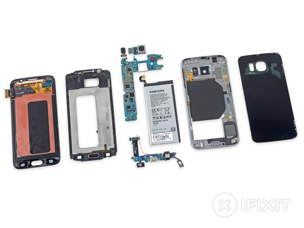 Samsung Galaxy S6 Repairability Score: 4 out of 10 (10 is easiest to repair).
