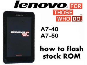 How to flash stock ROM - Jelly Bean / KitKat Lenovo A3500