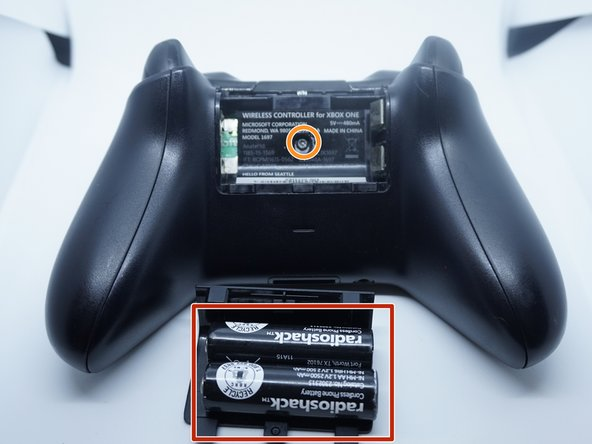 Remove the batteries from your controller (if installed). If you do not have a TR8 screwdriver, the bit can be found in the 64-bit driver kit.