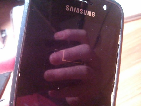 see that? the AMOLED display is actually transparent!