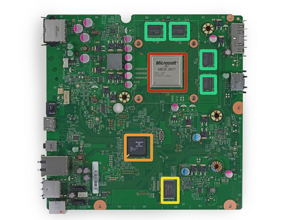 It's time to think inside the box. The prominent ICs found on the frontside of the motherboard:
