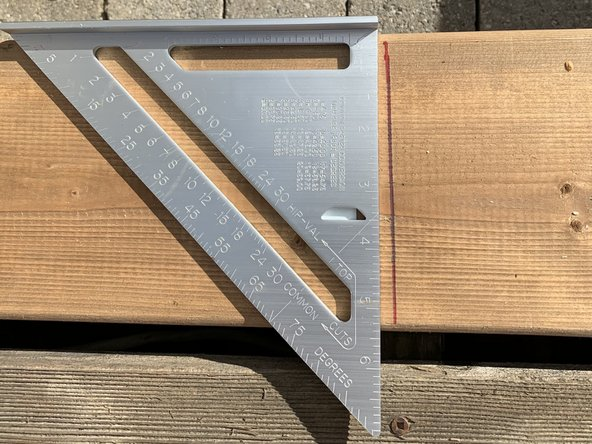 Mark up screws position on each new boards.