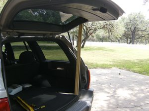 Rear Hatch lift supports