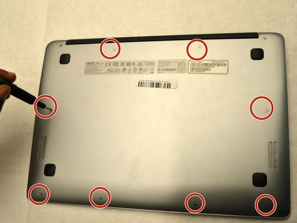 Remove the eight 4mm JIS #0 screws from the back cover.