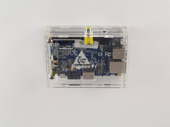 If the Banana Pi does not come with the protective case already, it will need to be built according to the case instructions.