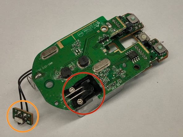 Parts of the PCB are listed below and correspond to the colored circles on the pictures