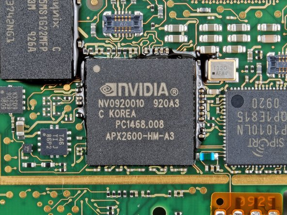 The NVIDIA Tegra APX2600 processor.