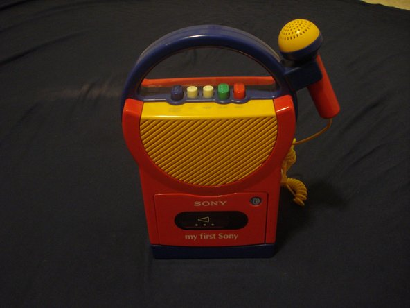 Here we have a 'my first Sony' cassette player with a microphone