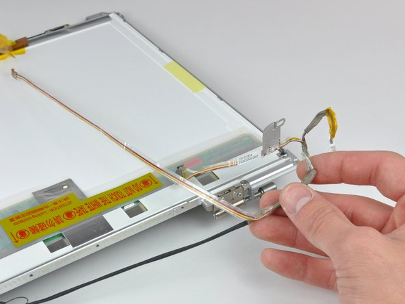 Remove the iSight cable from the display.