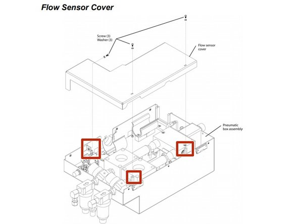 Newport e500 Flow Sensor Cover Disassembly
