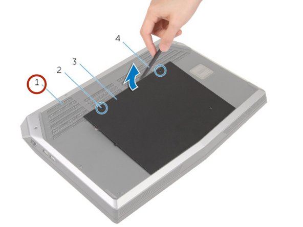 Slide and remove the base panel from the computer base.