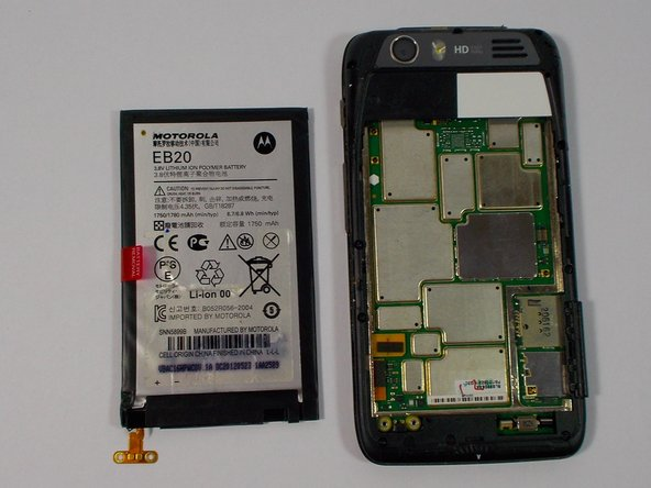 The back case portion may be removed after the battery has been removed.