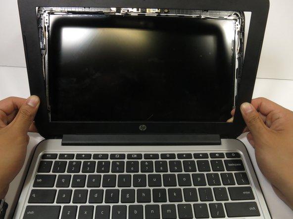 Tilt the laptop screen as far back as possible