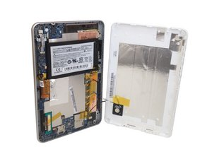 Acer Iconia B1-711 Rear Battery Cover Removal