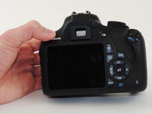 Retrait du panneau arrière du Canon EOS Rebel T5