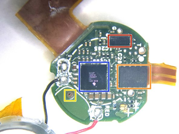 Closeup view of the Antenna/Touch Sensor side of the Main PCB