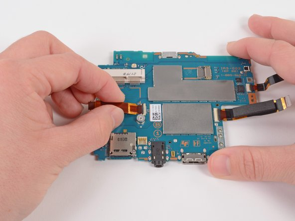 Gently pull the flex cable out of the ZIF connector, and remove it.