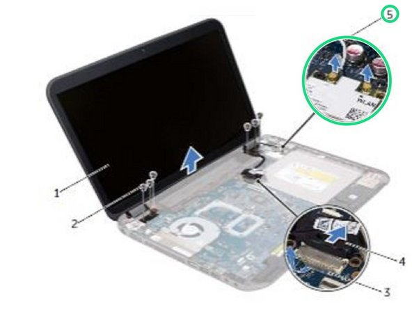 Dell Inspiron 15R SE 7520 Display Assembly Replacement
