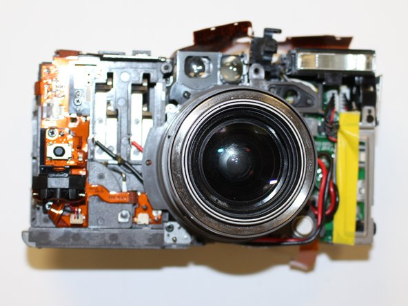 The front of camera should now resemble the picture shown.