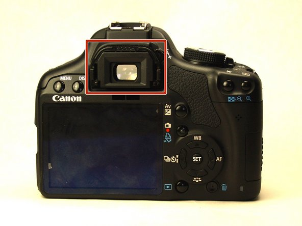 Canon EOS Rebel T1i Eyepiece Replacement