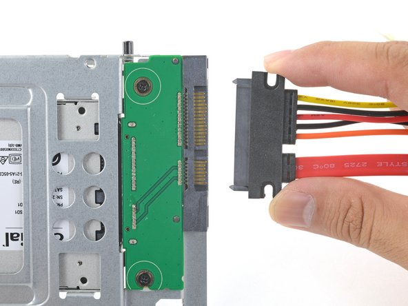 Plug the included sensor-enabled combo cable into the enclosure's port.
