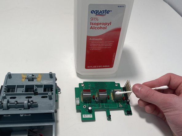 Cleaning the Sensors of the Cassida Counterfeit Detector