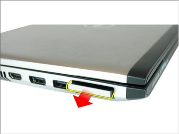 Slide the ExpressCard out of the computer.