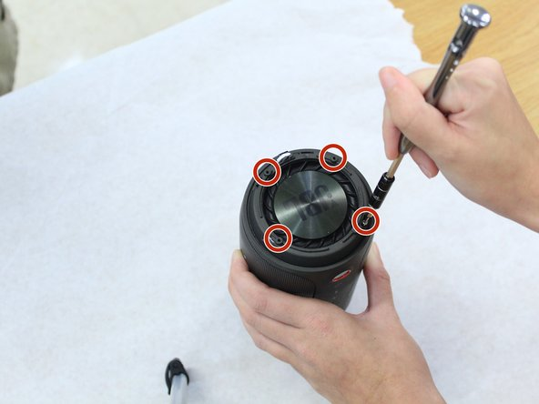 Remove the four 9.5mm Phillips #1 screws from each end of the device.