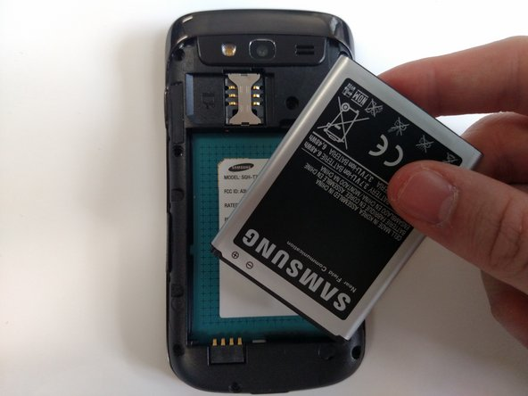 Remove the battery from the device.