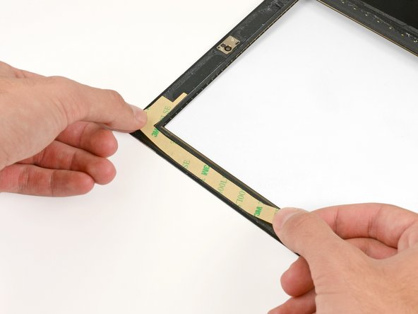 In the following steps, you will be placing the remaining pieces of adhesive on the front panel.