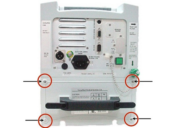 Remove the four 3mm x 20mm Phillips screws located on the corners of the power pack.